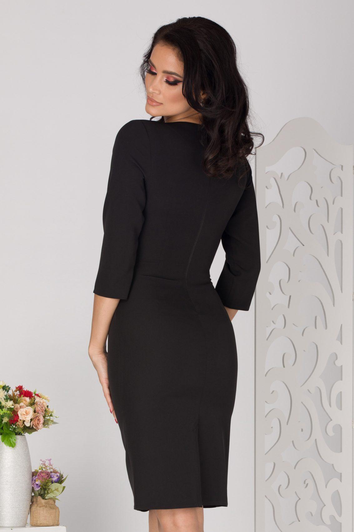 Savina Midi Μαύρο Φόρεμα 5121