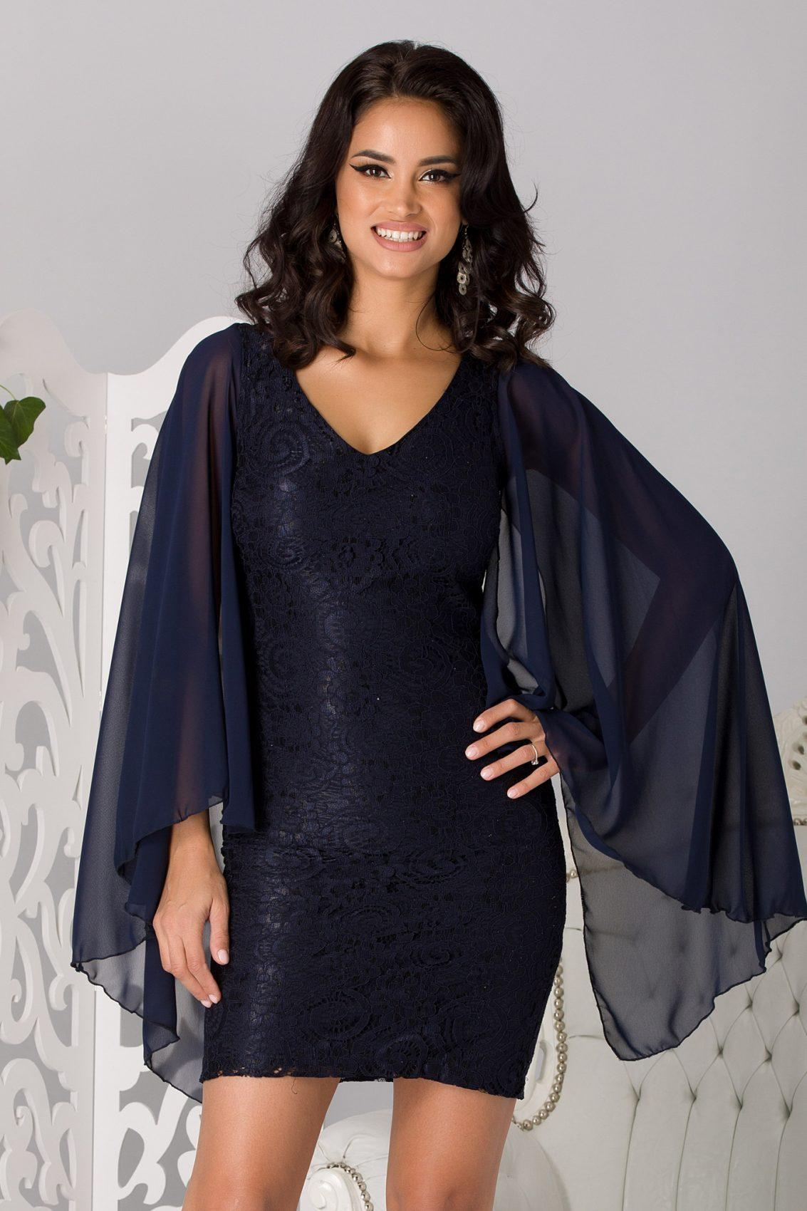 Michelle Navy Blue Dress