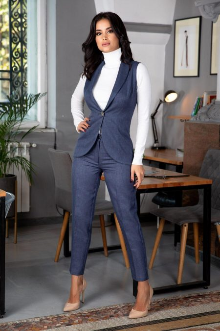 Terry Navy Blue Suit