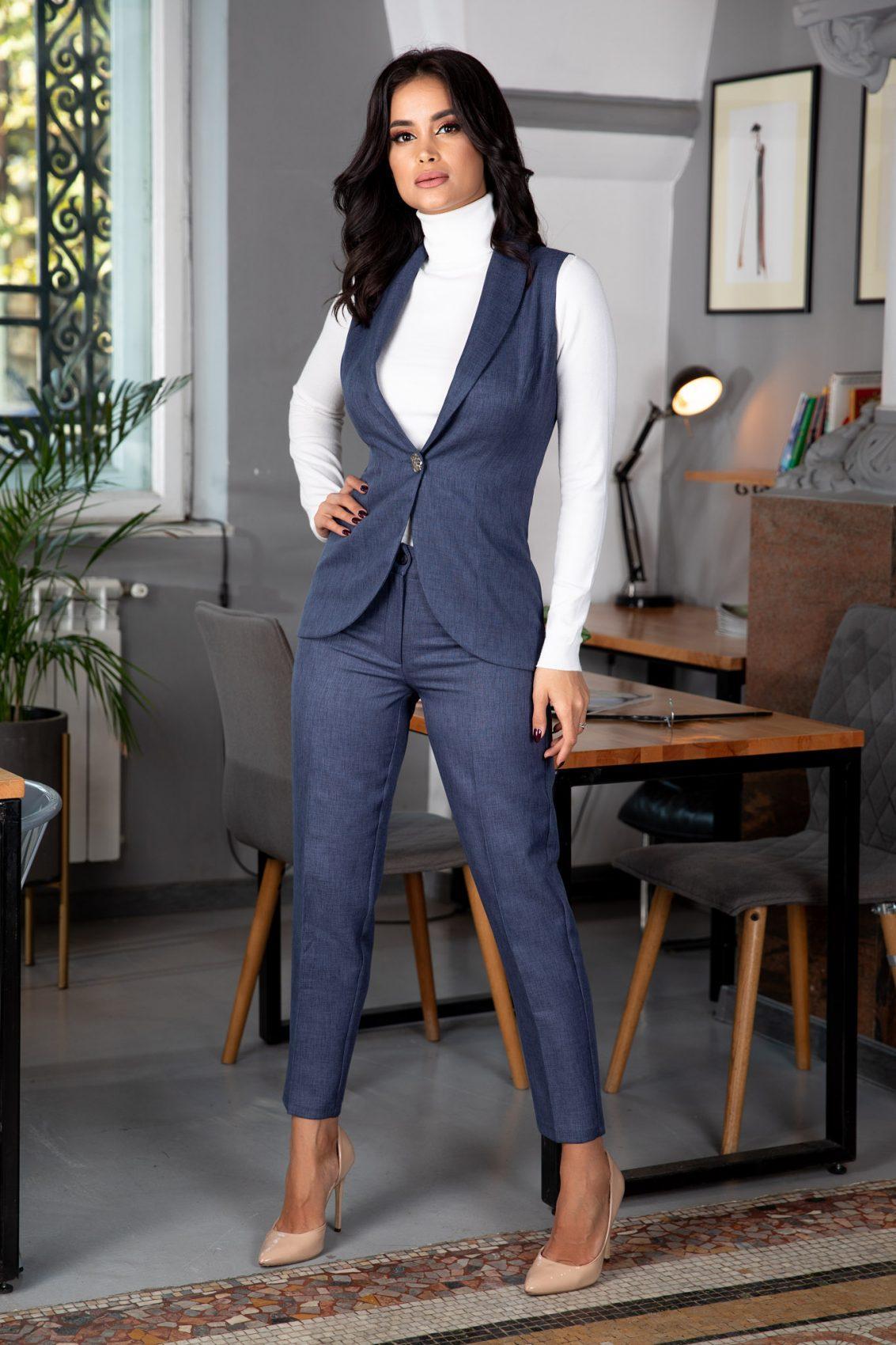 Terry Navy Blue Suit
