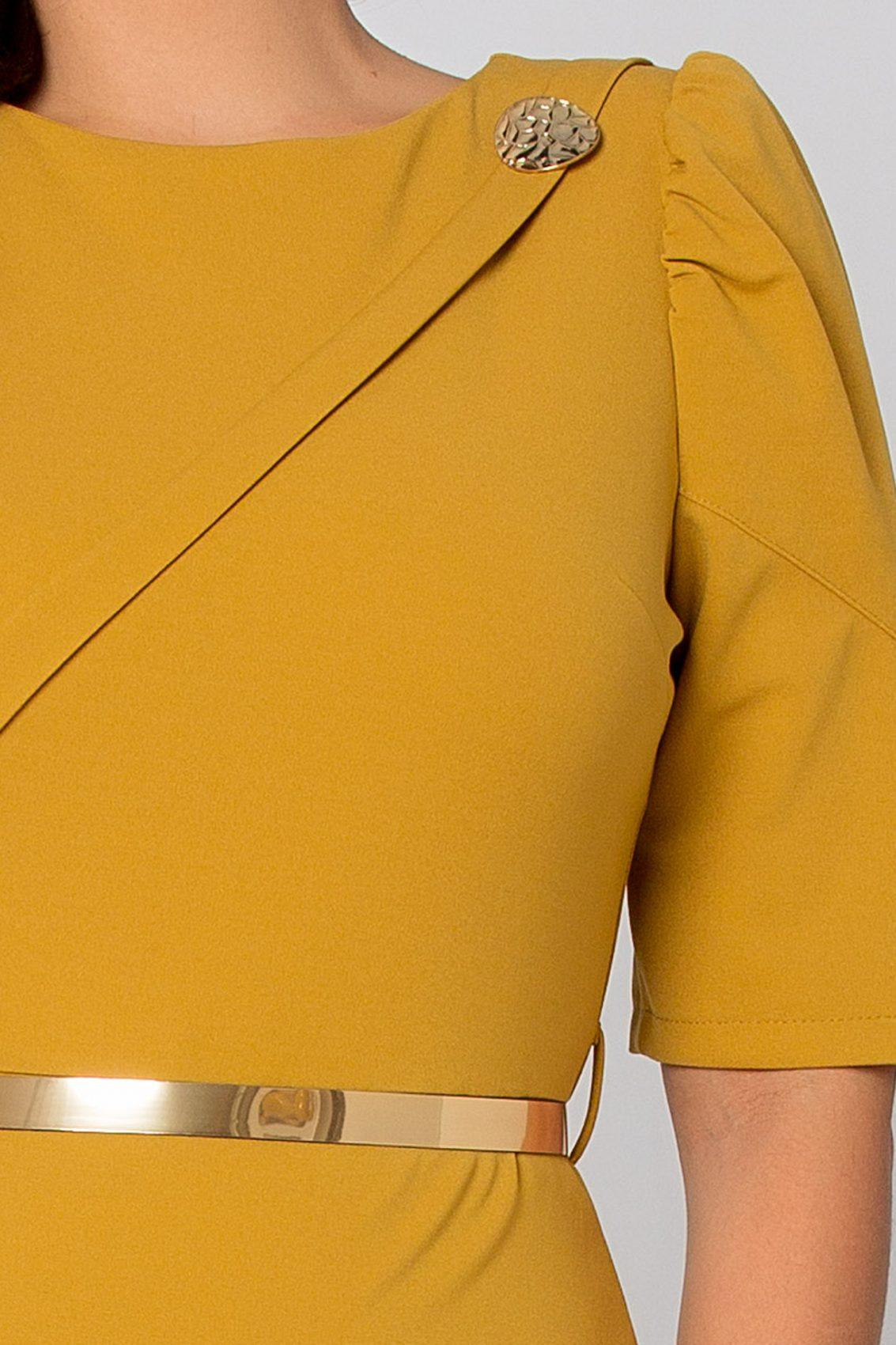 Serra Midi Μουσταρδί Φόρεμα 5294