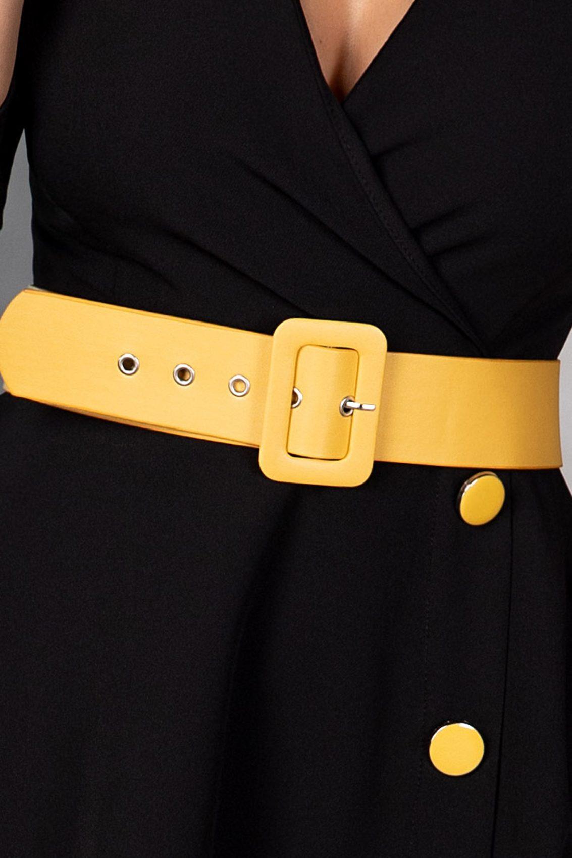 Charlotte Midi Μαύρο Φόρεμα 5395