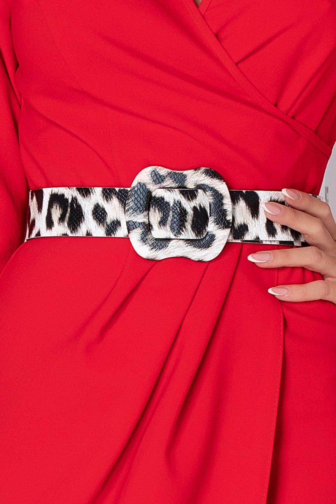 Glorya Midi Κόκκινο Φόρεμα 5245