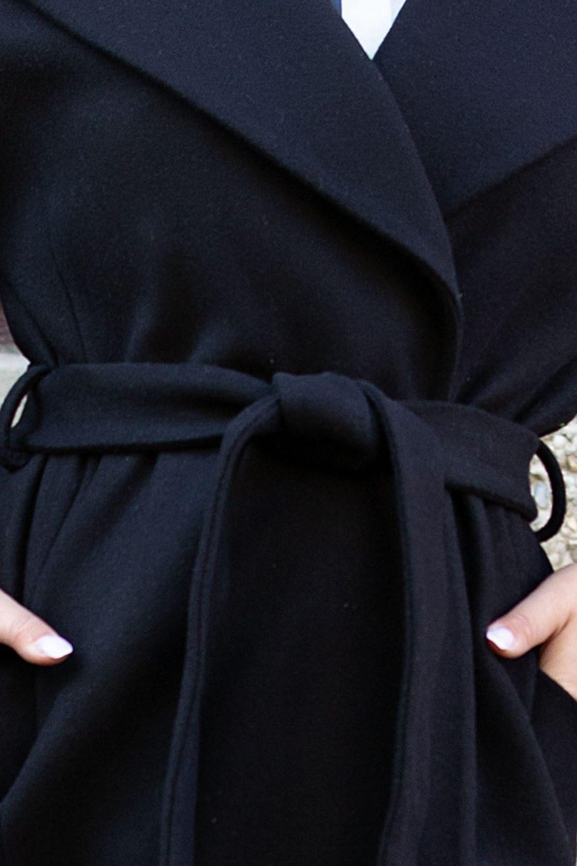 Selen Μαύρο Παλτό 5300