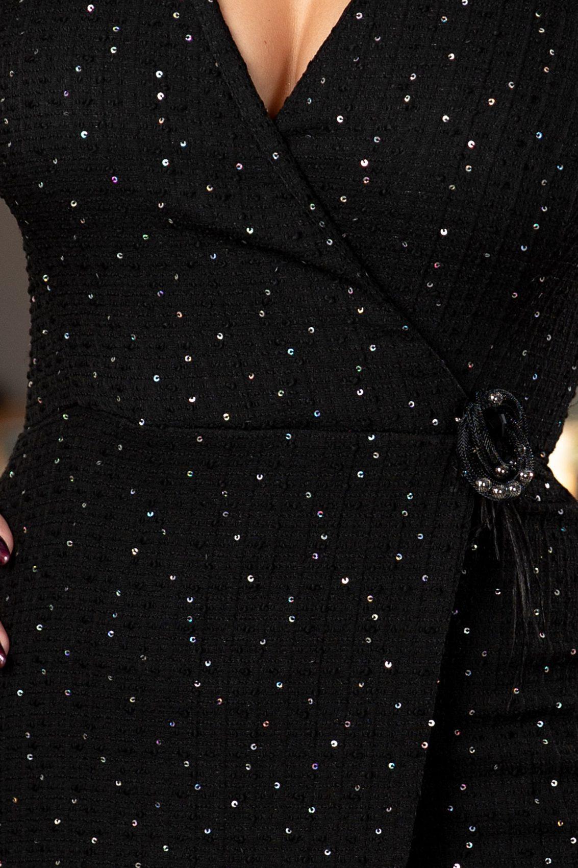 Angella Μαύρο Φόρεμα 6043