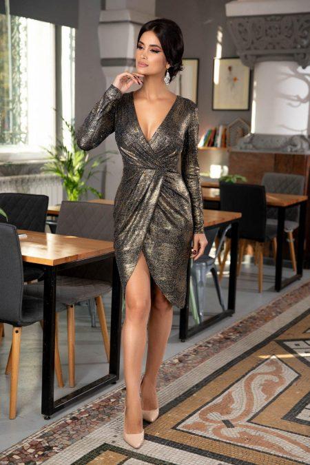 Moze Ashley Gold Dress