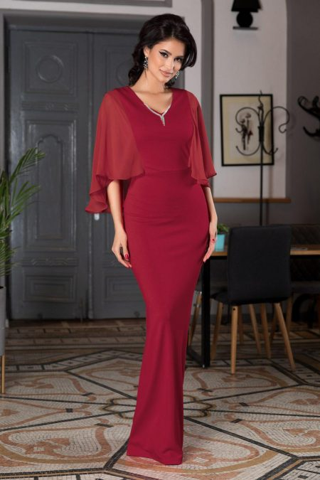 Hilary Burgundy Dress