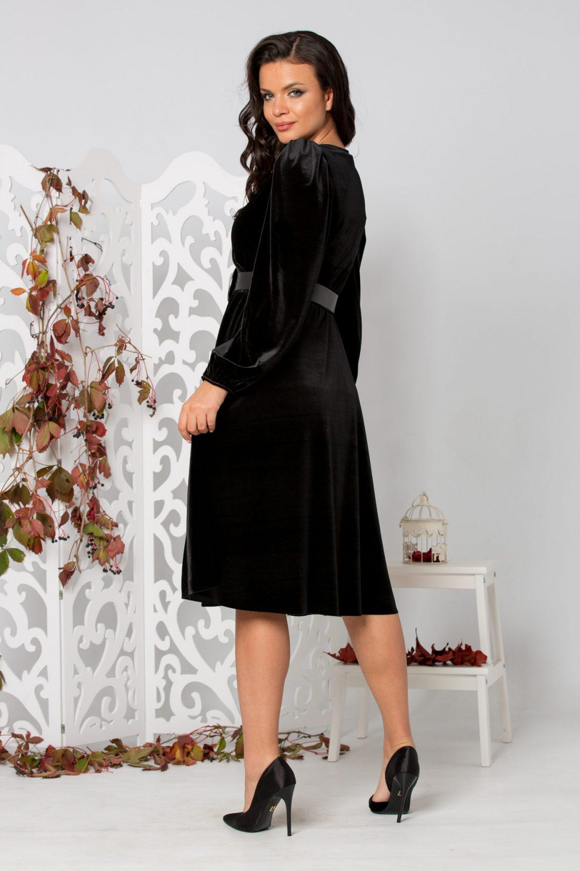 Judy Midi Μαύρο Φόρεμα 5337
