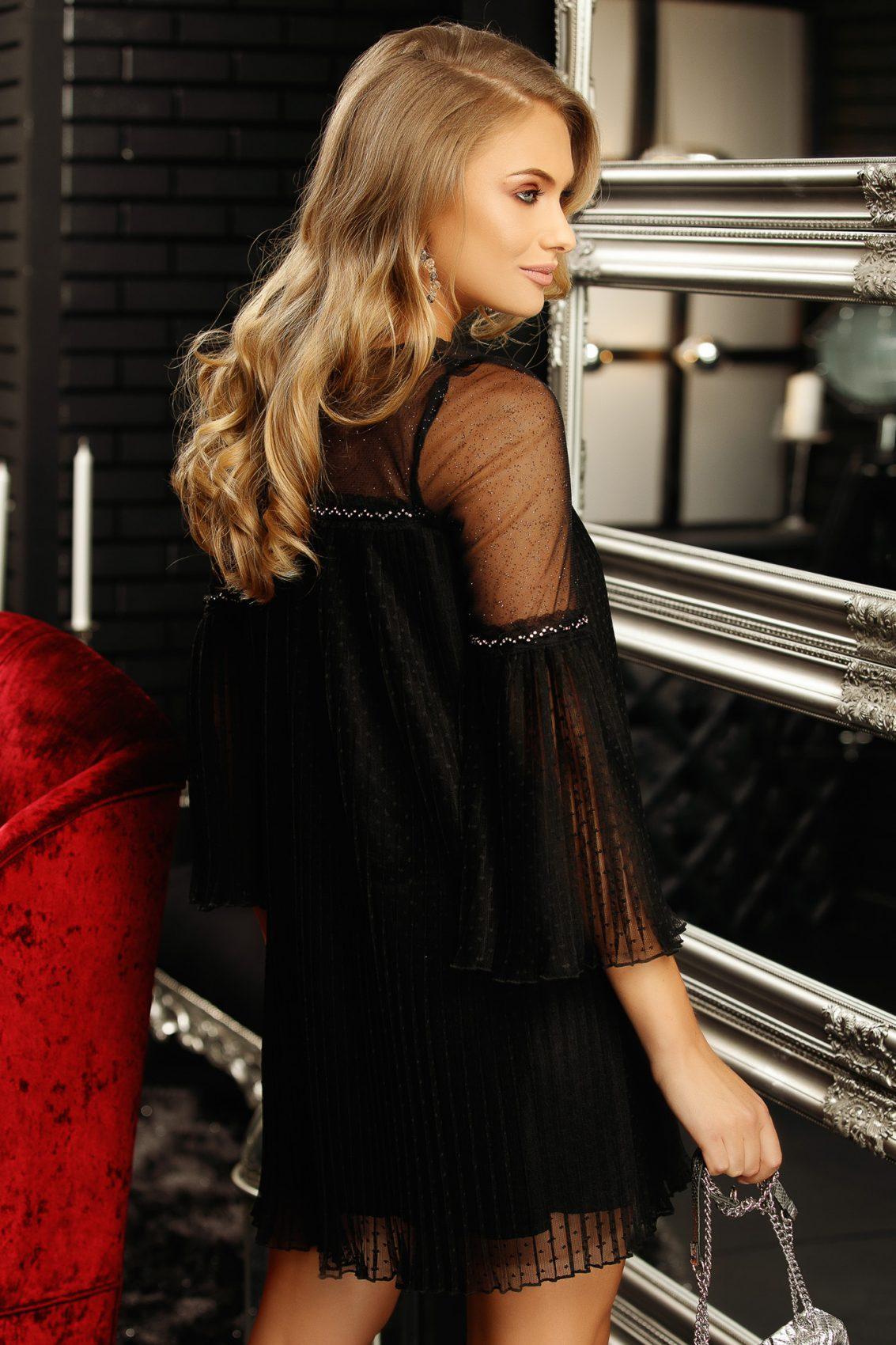 Lorelai Mini Μαύρο Φόρεμα 5322