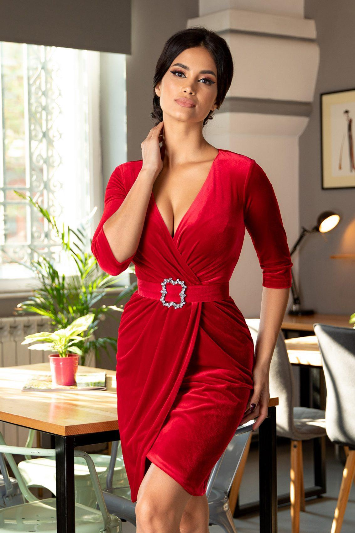 Thea Κόκκινο Φόρεμα 5373
