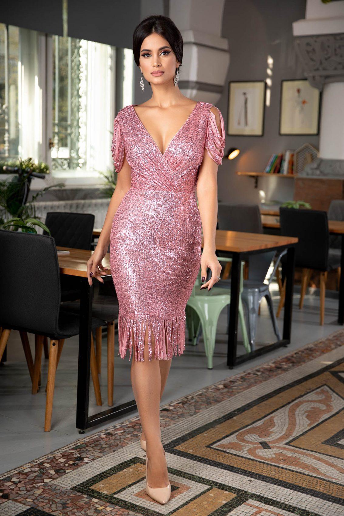Fringe Pink Dress