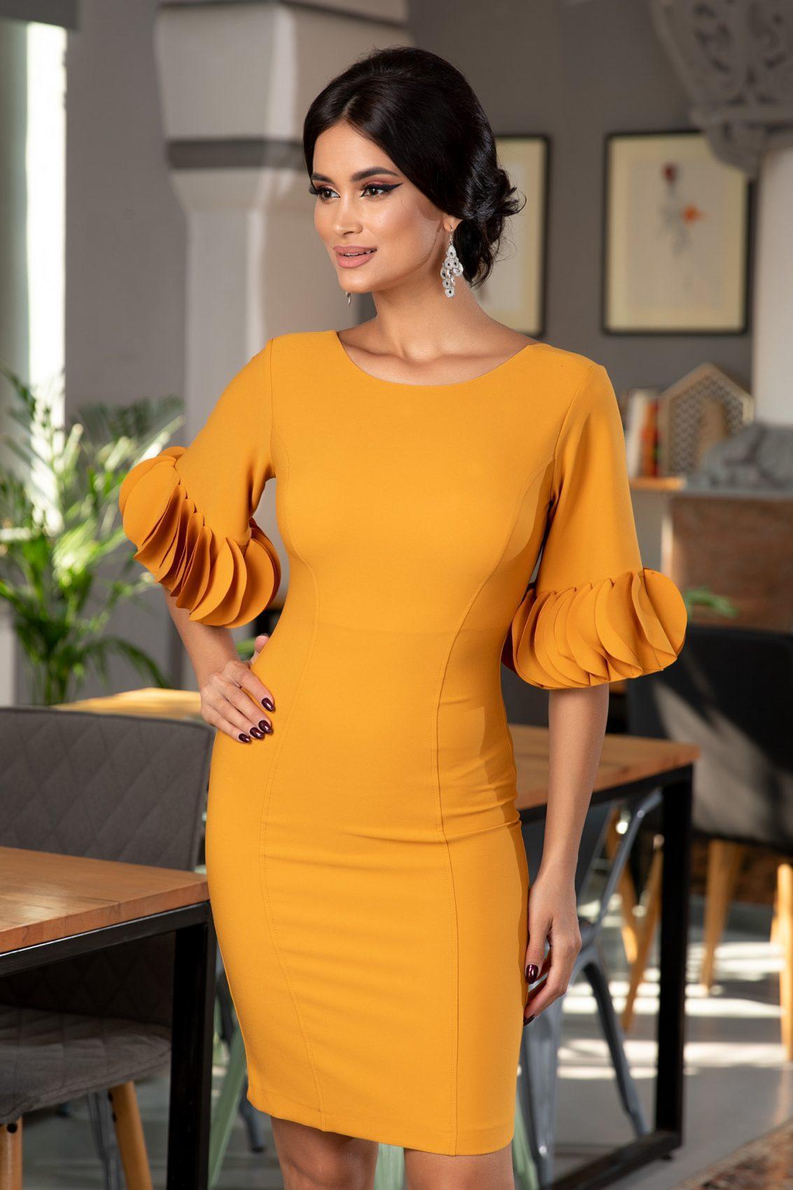 Geanine Μουσταρδί Φόρεμα 5366
