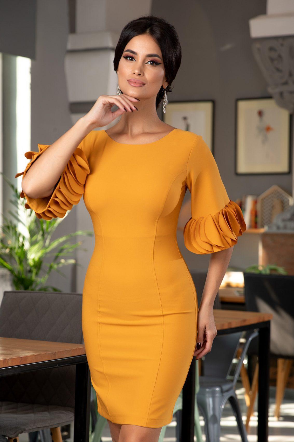 Geanine Mustard Dress