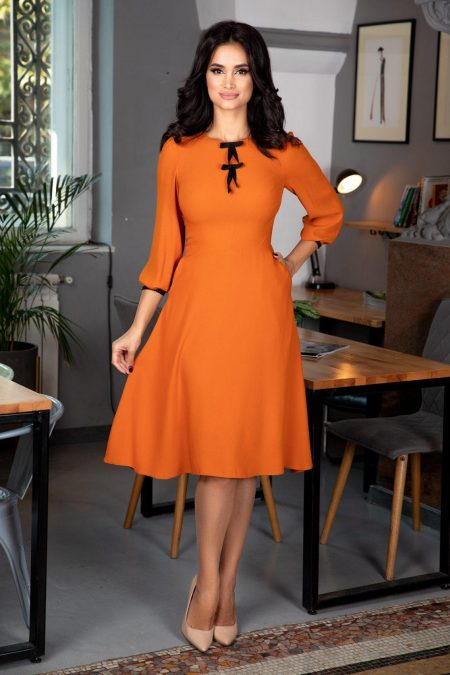 Moze Evelyn Mustard Dress