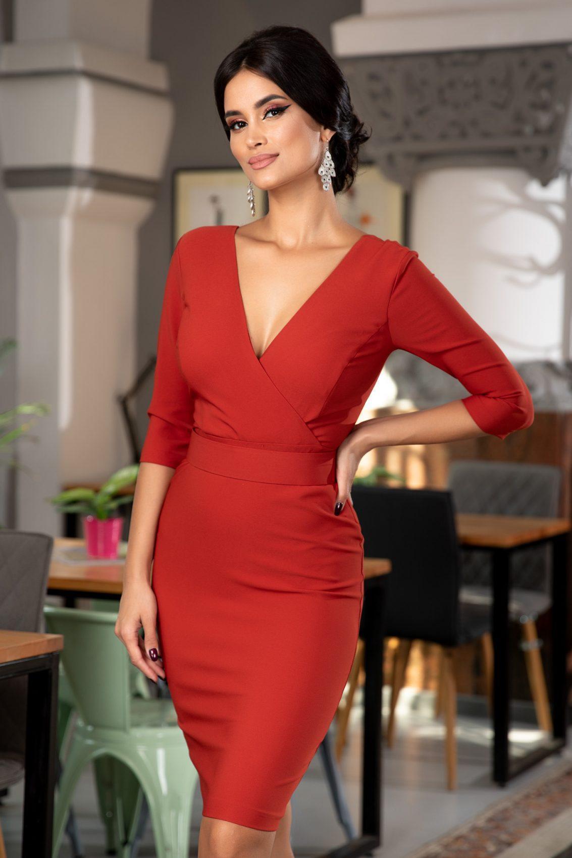 Malvina Κεραμιδί Φόρεμα 5369
