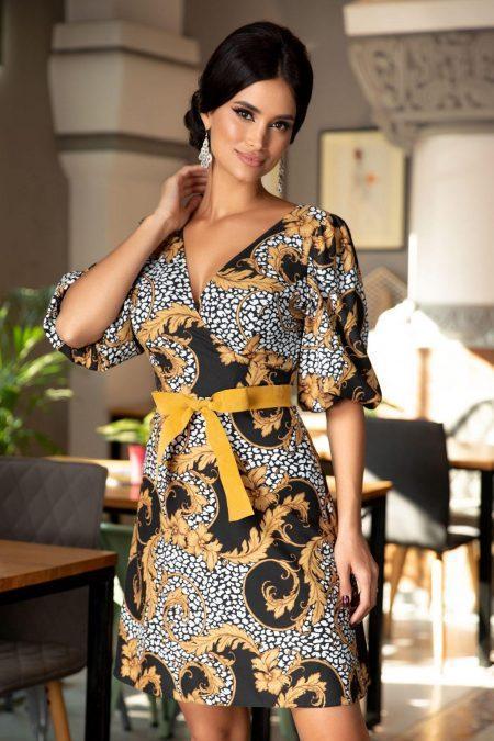 Pauline Mustard Dress