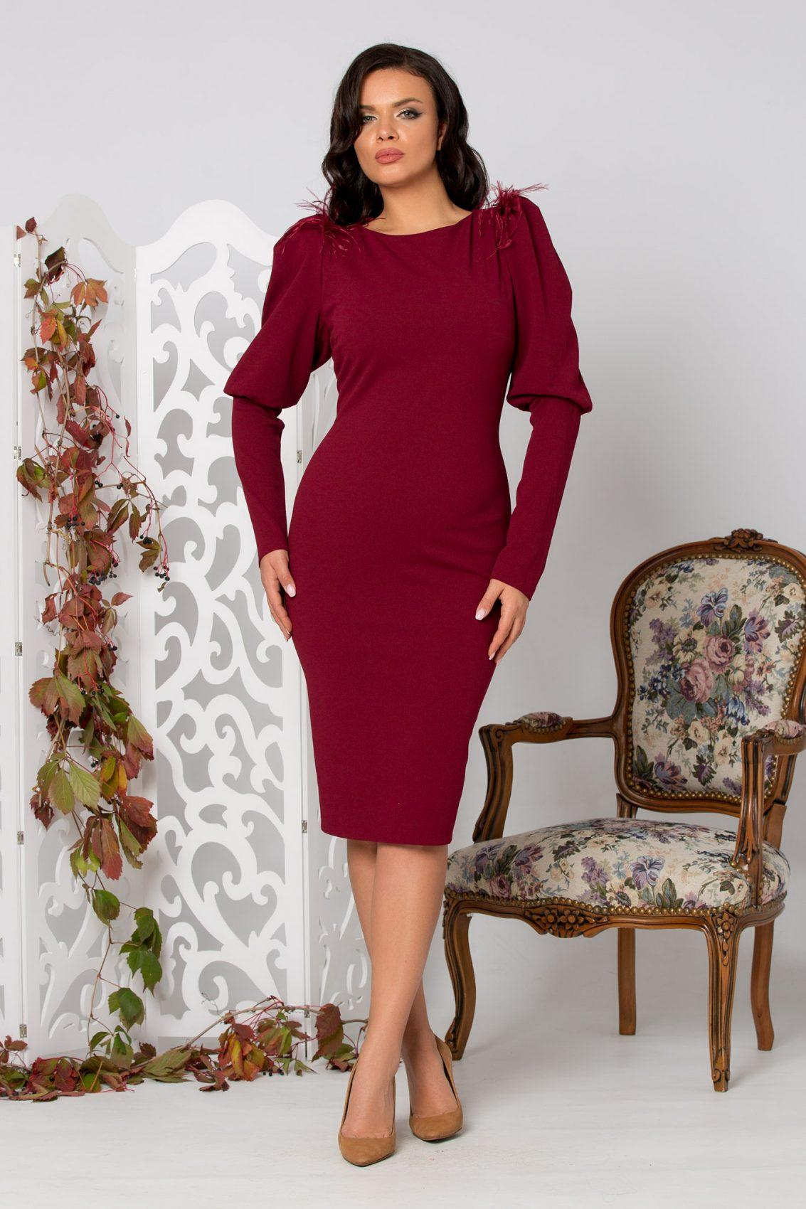 Tania Burgundy Dress