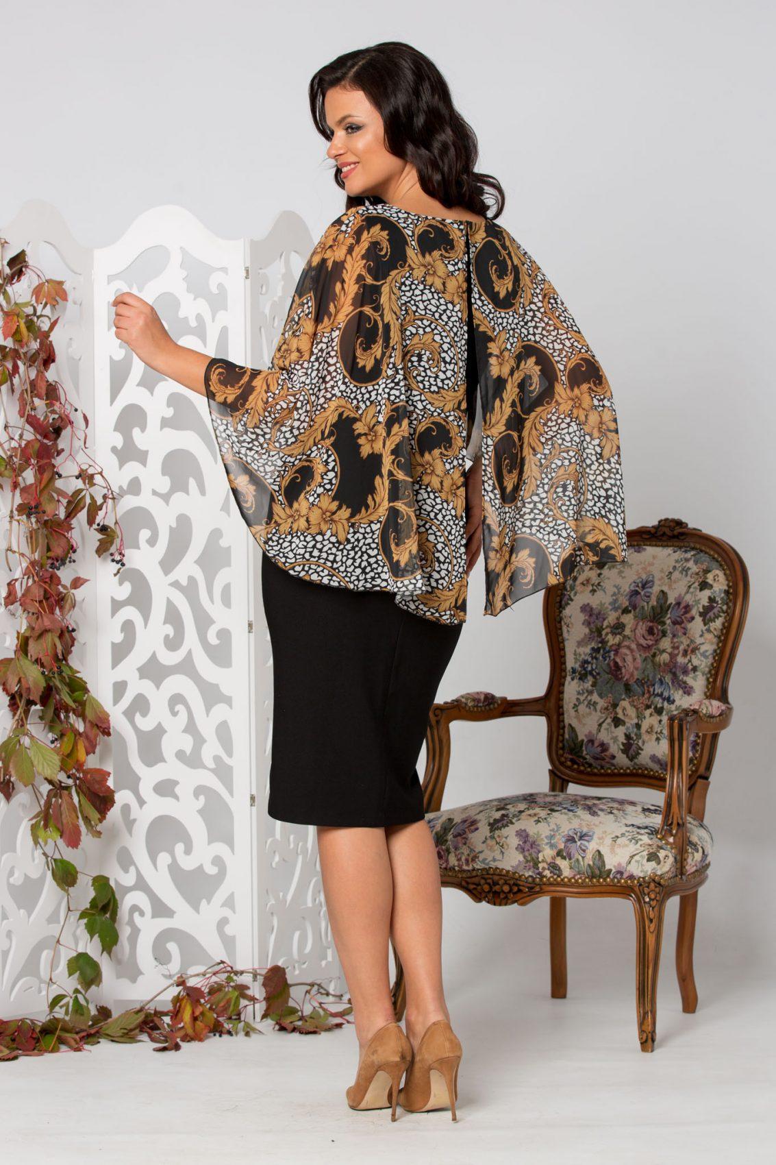 Ylonna Midi Μαύρο Φόρεμα 5281