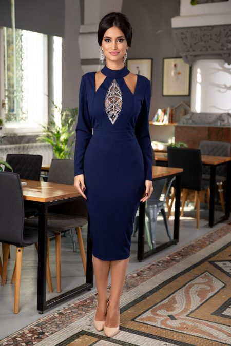 Marynna Navy Blue Dress