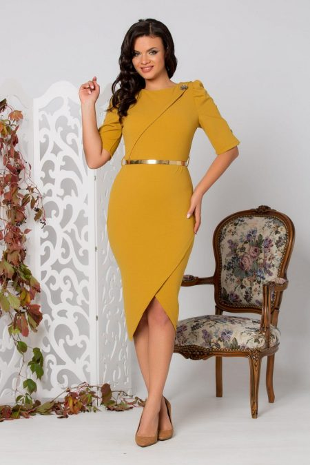 Serra Dark Yellow Dress