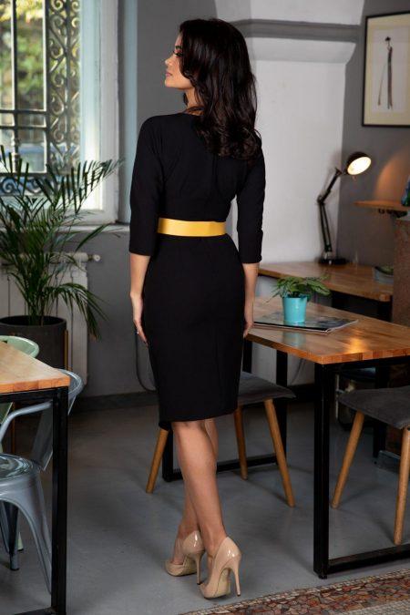 Audrey Midi Μαύρο Φόρεμα 5392