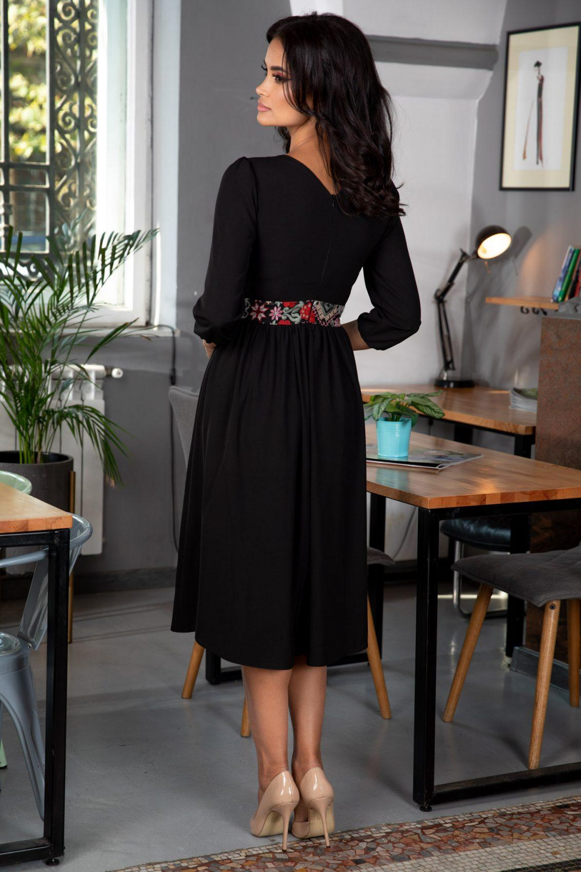 Moze Jilian Μαύρο Φόρεμα 5379