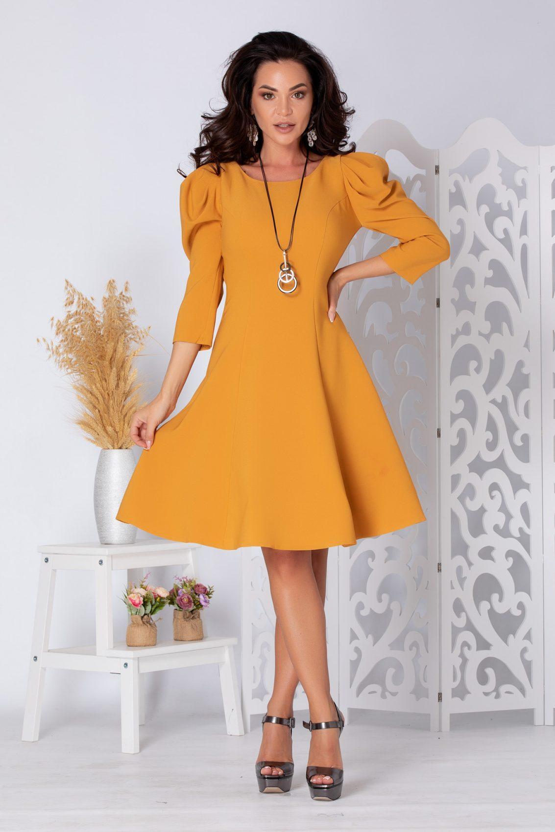 Maya Κίτρινο Φόρεμα 5500