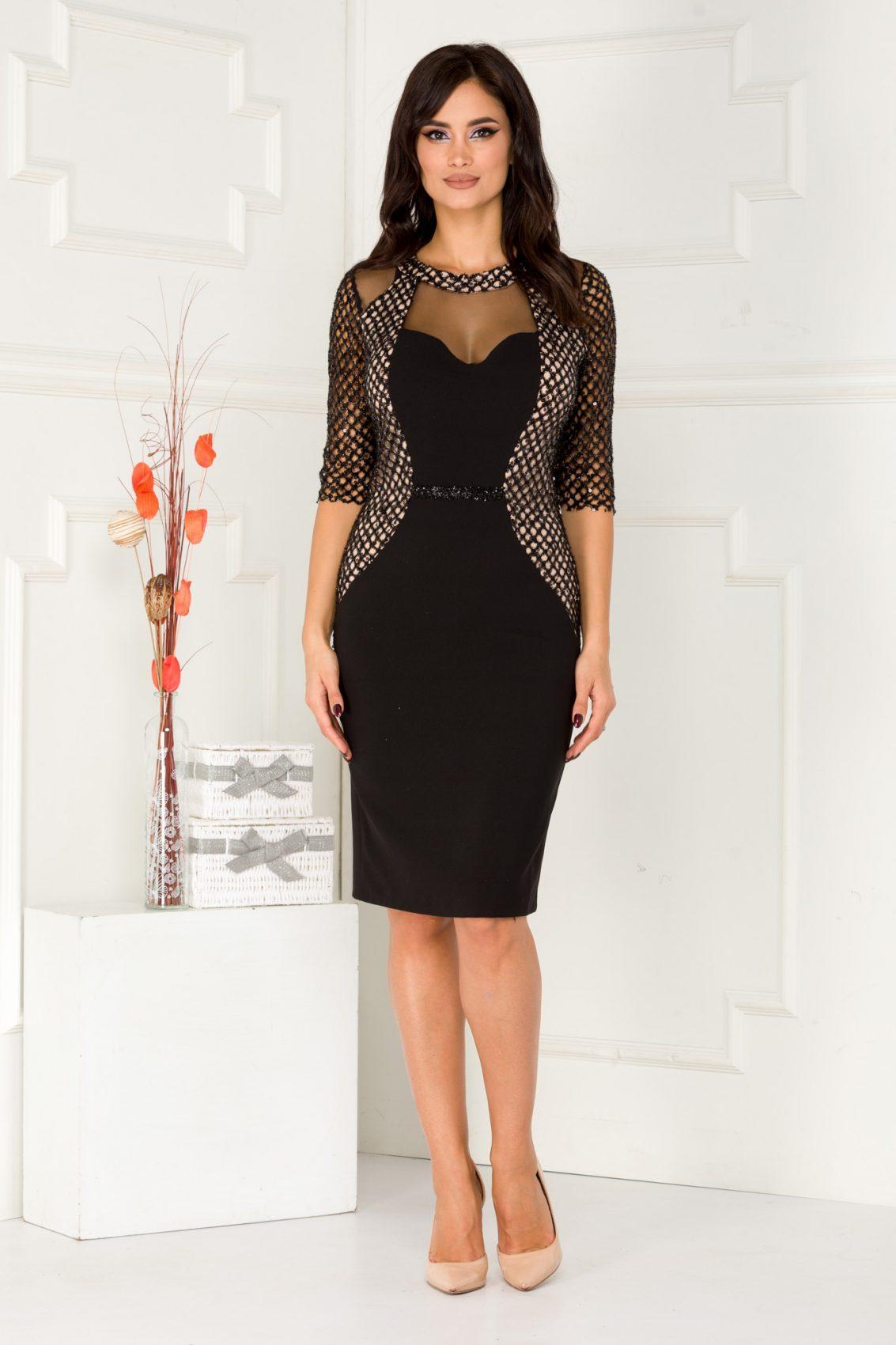 Mayrra Midi Μαύρο Φόρεμα 5603