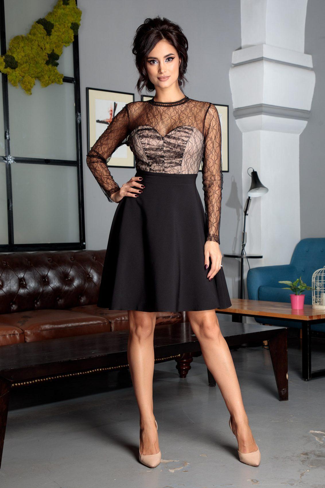 Abby Midi Μαύρο Φόρεμα 5332