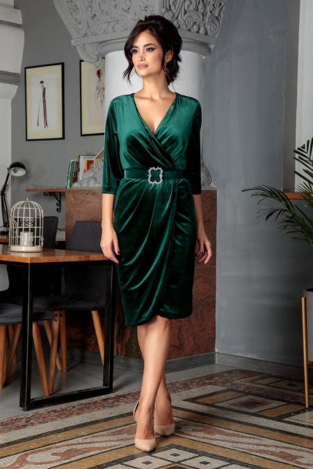 Thea Green Dress