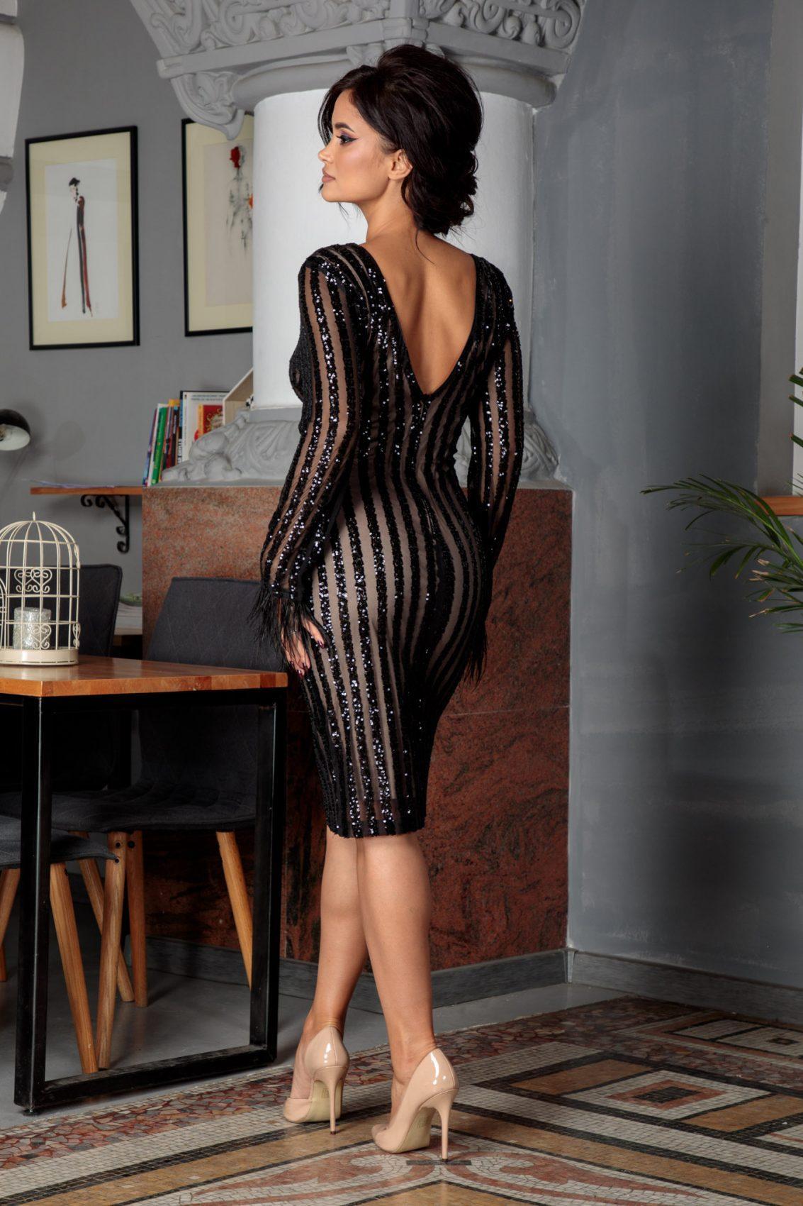 Ranya Midi Μαύρο Φόρεμα 5605