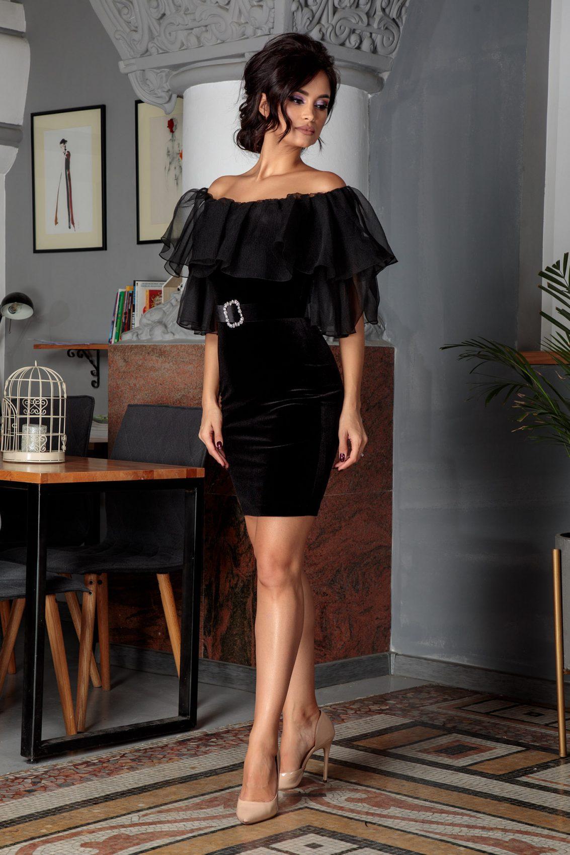 Ingrid Μαύρο Φόρεμα 5612