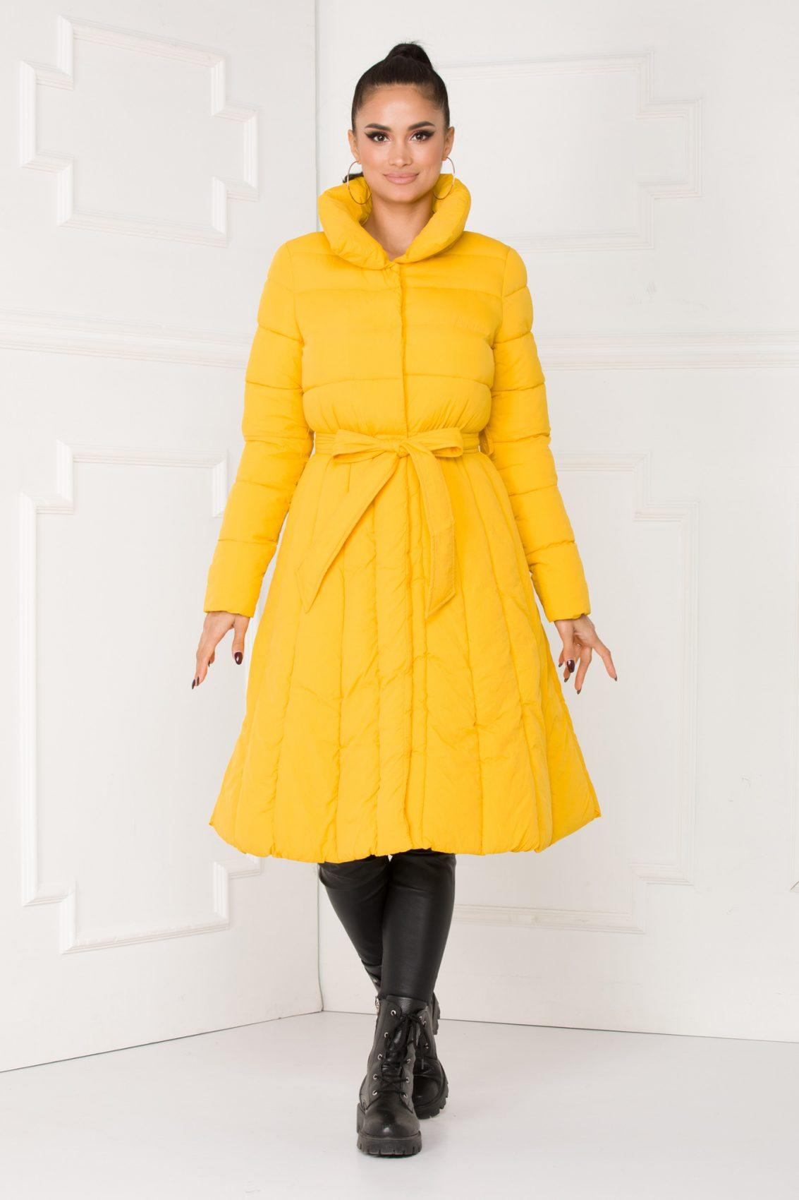 Leny Κίτρινο Μπουφάν 5503