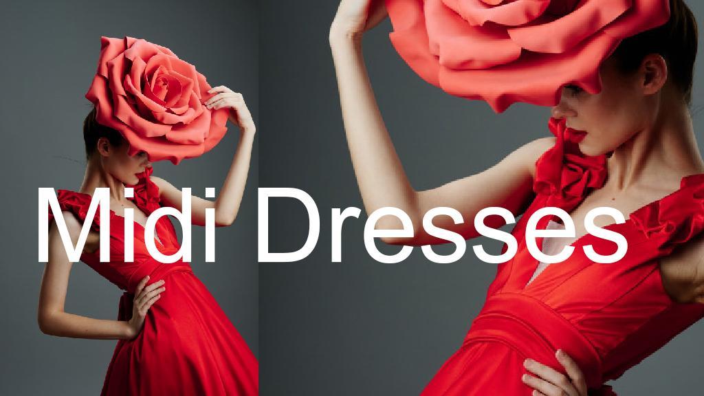 Το midi φόρεμα, η τάση της εποχής. 1
