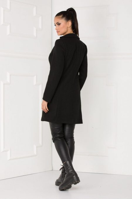 Lizz Μαύρο Παλτό 5533