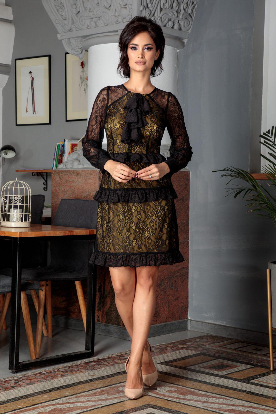 Moze Rebeka Μαύρο Φόρεμα 5588