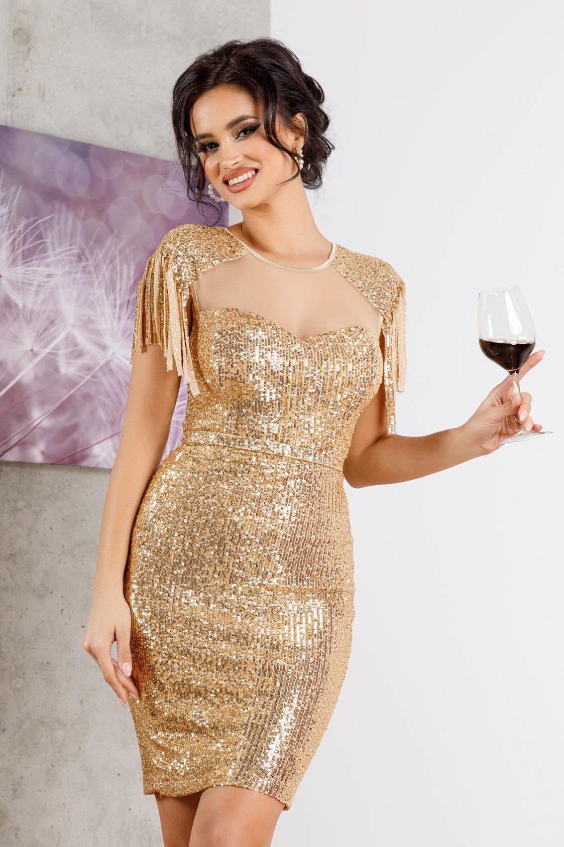Geena Golden Dress