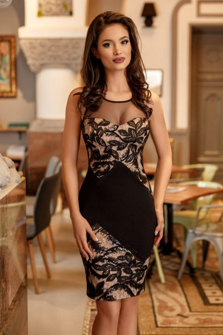 Sarya Black Dress