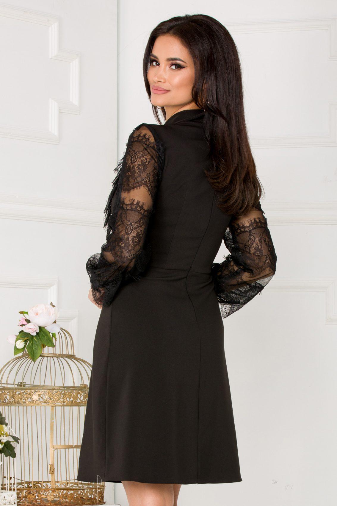 La Donna Jamila Μαύρο Φόρεμα 5292