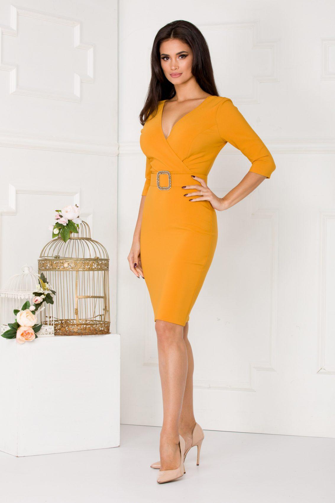 Malvina Κίτρινο Φόρεμα 5513