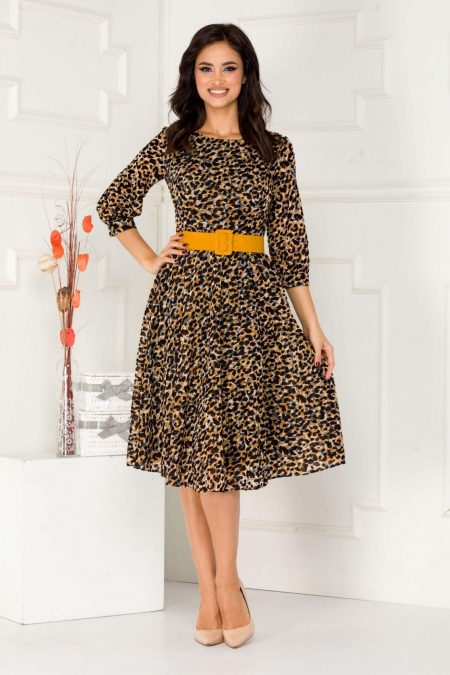 Philomena Animal Print Dress