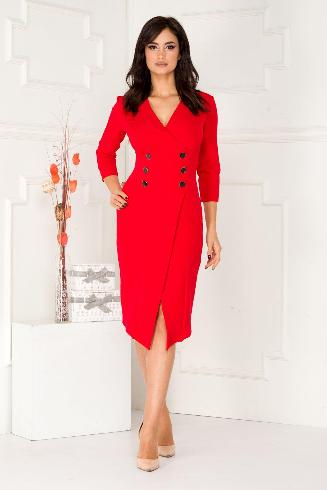 Sharron Red Dress