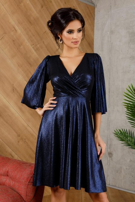 Anka Navy Dress