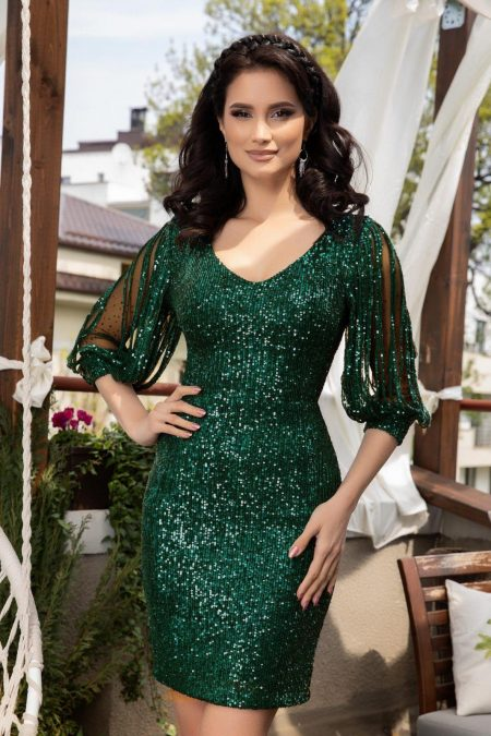 Katriss Dark Green Dress