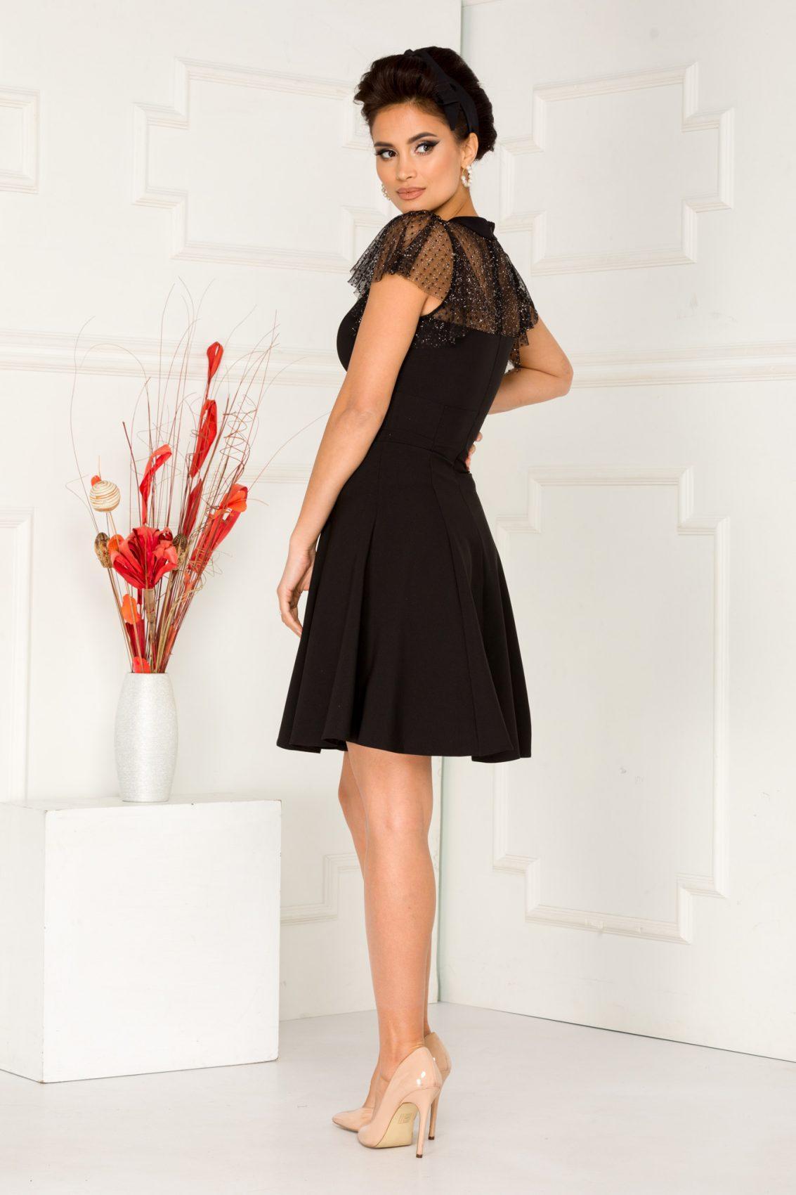 Bianka Mini Μαύρο Φόρεμα 5328