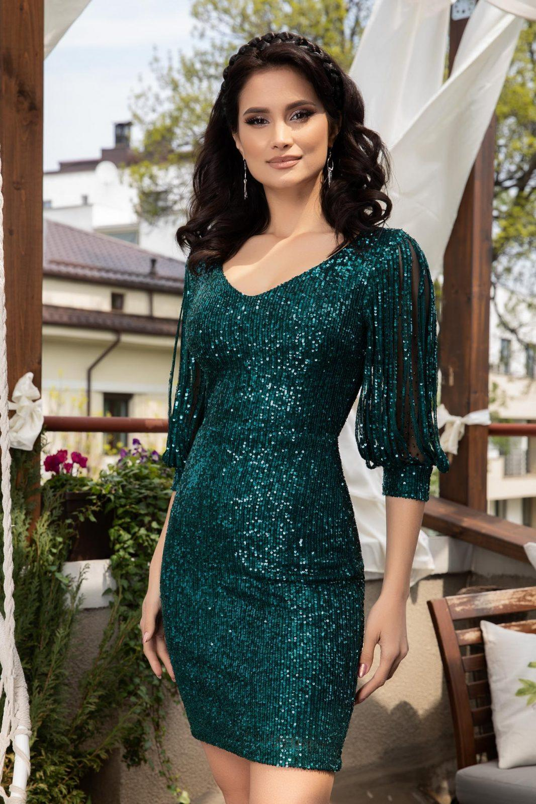 Katriss Πράσινο Φόρεμα 4594