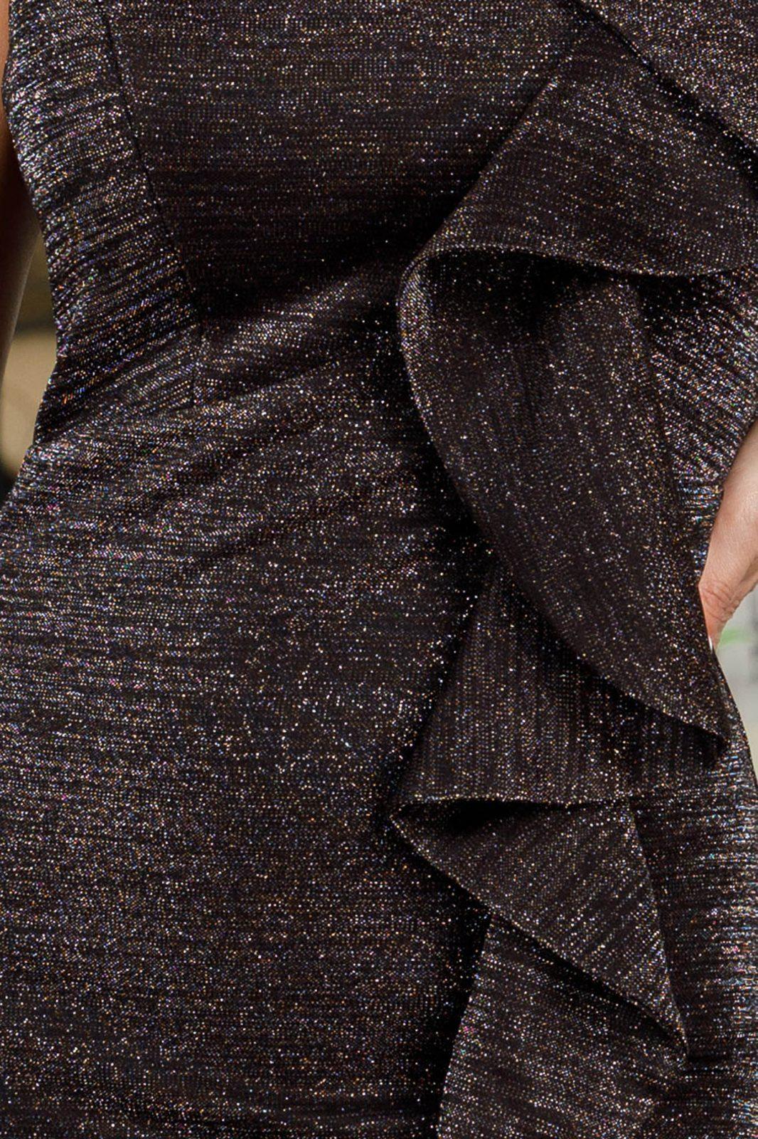 Lorensa Midi Μαύρο Φόρεμα 5090