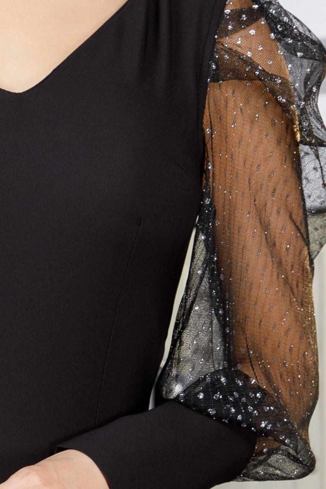 Leya Μαύρο Φόρεμα 5977
