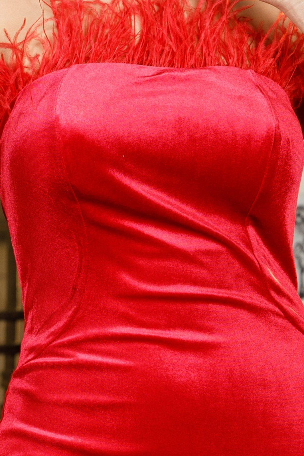 Adorable Midi Κόκκινο Φόρεμα 5967