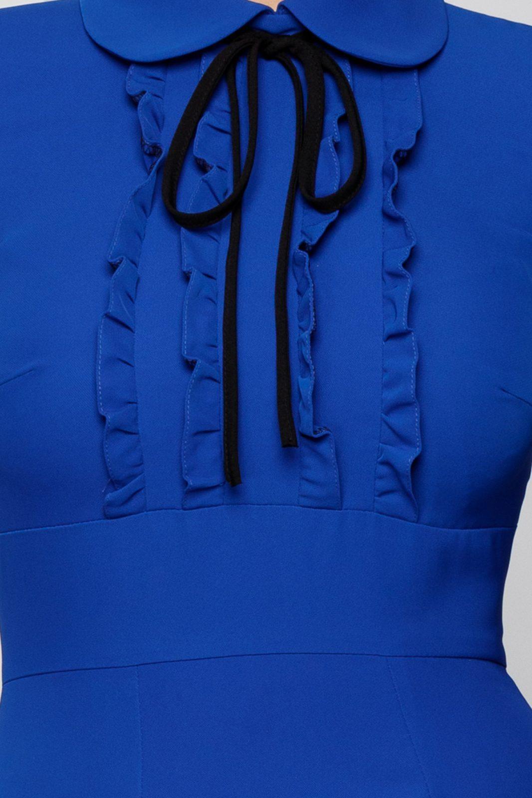 Μπλε Φόρεμα Με Βολάν Moze Sonya 7029